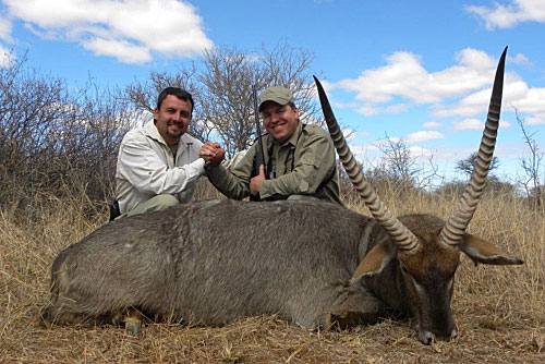 Pieter with a hunting client