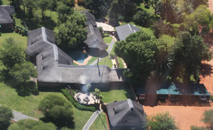Aerial view of Cruiser Safaris hunting lodge