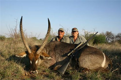 Noel, Kathy & his Waterbuck