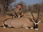 Successful Gemsbok hunter.